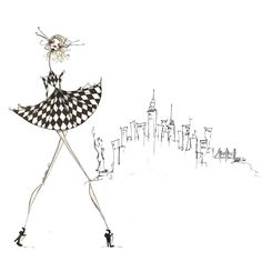 City Gal Painting Print on Wrapped Canvas
