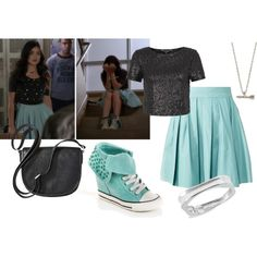 """""""PLL Aria Inspired Outfit"""" by reneeward400 on Polyvore"""