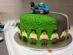 Mobility scooter celebration cake. added look a like lego men. tplh