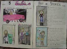 "Wow!  6th grader Mimi blew me away with this two-page spread dedicated to Barbies that don't sell well. This totally deserved a ""Mr. Stick of the Year"" award."