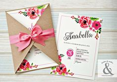 We love the style of this invitation. Invitation Design, Invitation Cards, Wedding Invitations, 15th Birthday, Birthday Parties, Bridal Shower, Baby Shower, Ideas Para Fiestas, Holidays And Events