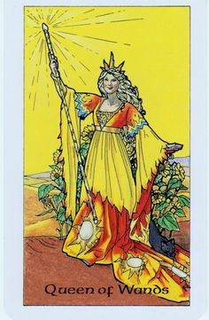 Card of the Day: Queen of Wands from Robin Wood Tarot ~ The fire that you have building inside you is ready to consume. The question is, how are you going to let it out? This Queen can inspire you to use that fire to weld and join things together or to incinerate them for good. Meter your reactions today as the passion you are feeling needs to be directed well to avoid collateral damage.