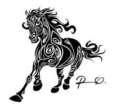 Horse Tattoo Drawings | post navigation tribal horse head tattoo back tribal horse tattoo 2