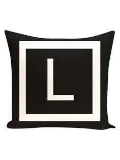 L Amsterdam Monogram Pillow from Get Personal: Monogram Pillows & More on Gilt