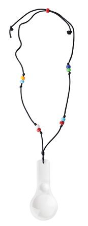 """Magnifying Glass Necklaces - from Guildcraft Arts & Crafts! Your special agents will love discovering clues not easily seen. Includes magnifying glasses, pony beads (assorted colors), preprinted verses and precut cord. 4"""" x 2""""."""
