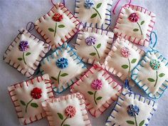 YoYo Penny Rug Ornaments Tags Party Favors Wedding Shower Tea