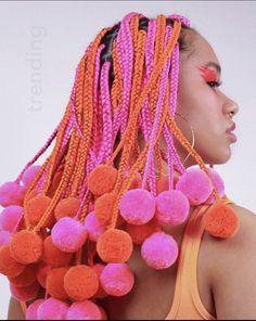 Cute Box Braids Hairstyles, Pretty Hairstyles, Braided Hairstyles, Pelo Guay, Hair Inspo, Hair Inspiration, Editorial Hair, Manicure Y Pedicure, Natural Hair Styles