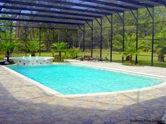 Rectangle Swimming Pool in Charleston, SC with Water Features ...
