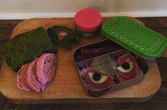 Pink & green bread - recipe by Sophia Hoffmann / Lunchbox idea