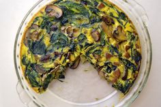 Made it this morning. Delicious.  Mushroom, Spinach, and Sausage Crustless Quiche (Gluten Free and Dairy Free)