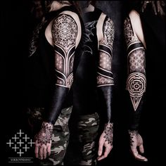 DeviantArt: More Like Ornamental blackwork tattoo sleeve by ...