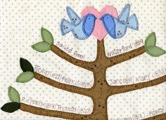 https://flic.kr/p/bEYpRX | Top of family tree block from We are Family quilt pattern