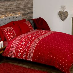Nordic Duvet Cover Set in Red from WorldStores: Everything For The Home