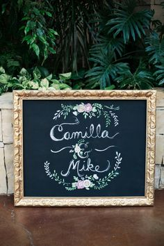 Chalkboard paint and a pretty assortment of frames from thrift stores for table numbers and other wedding signs. Wonderful idea!
