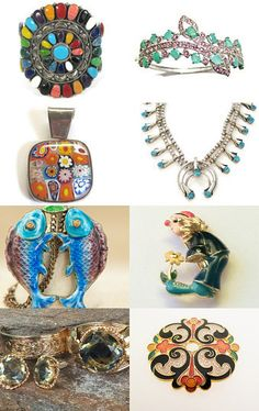VJT SOTW Celebrating Andrea's Bejeweled Emporium by roxy on Etsy--Pinned with TreasuryPin.com