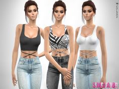 .:333 - Lorena Top:.  Found in TSR Category 'Sims 4 Female Everyday'