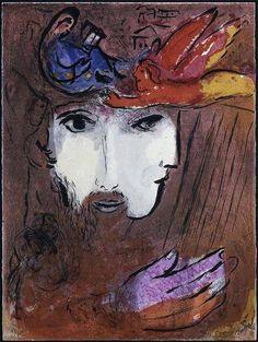 Marc Chagall, David and Bathsheba, 1956 on ArtStack #marc-chagall #art