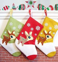 Felt Deer Christmas stockings