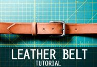 How to make a leather belt | Mr. Lentz