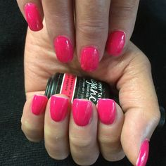 https://flic.kr/p/sviXcZ | Acrylic nails with Tammy Taylor gel polish pink sapphire #acrylicnails #gelpolish #tammytaylor #nailsbyjune