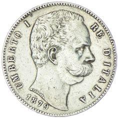 5 Lire 1879 R, Silber