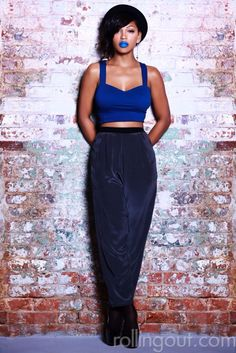 Meagan Good - Rolling Out Magazine Beautiful Black Women, Beautiful People, Beautiful Body, Beautiful Ladies, Beautiful Pictures, Megan Good, Hobble Skirt, Blue Lipstick, Crazy Lipstick
