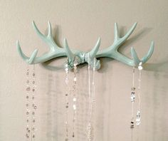 MINT Faux Deer Antler Rack // Jewelry Holder // Scarf Holder // Mug Holder // Jewelry Organizer // Teen Gift // Necklace Rack by LucyHaus on Etsy Mint Jewelry, Jewelry Rack, Jewelry Holder, Necklace Holder, Jewelry Storage, Deer Antler Jewelry, Antler Art, Scarf Holder, Scarf Organization