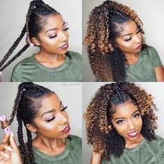 half up half down ombre natural hair for Fall Winter