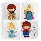 Princess Annie  Elsie Cold Winter Snow Felt Paper Dolls Set