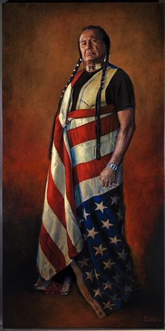 Painting of controversial A.I.M. leader Russell Means, by Bob Coronato. ART