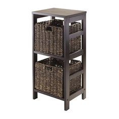 Winsome Wood 92826 Granville 3-Piece Storage Shelf with Baskets