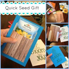 Seed packet gift for Teacher Appreciation or Mother's Day. Easy and quick!  Practice Hospitality. - Blog.