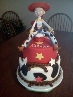 Jesse the Cowgirl from Toystory - by kathy @ CakesDecor.com - cake decorating website