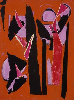 Desert Moon Lee Krasner (United States, 1908-1984) United States, 1955 Collage of oil on paper on canvas, and oil on canvas Overall: 58 x 42 1/2 in. Frame: 65 × 51 × 2 in. (165.1 × 129.54 × 5.08 cm)