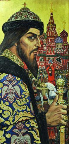 Russian costume in painting. Ilya S. Glazunov. Tsar Ivan the Terrible. 1974…