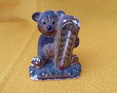 chalkware bear thermometer