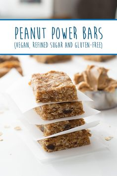 These homemade Energy Bars are vegan, gluten-free and refined sugar-free. Plus, they are officially kid-approved! Power Bars, Energy Bars, Gluten Free Snacks, Recipe Inspiration, Sugar Free, Kid, Healthy Recipes, Homemade, Vegan