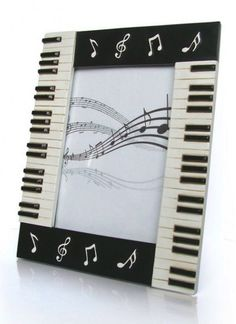 Piano Keyboard Photo Frame