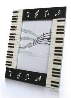 Piano Keyboard Photo Frame