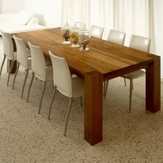 My dream is a to have a 10-seater dining table like this! so simple looking, but perfect for big families and entertaining.