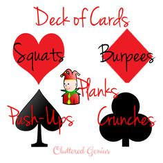 Deck of Cards workout  Great way to workout with friends while playing cards!