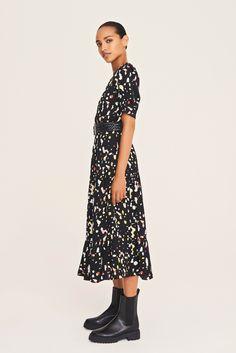 Pantalon Kaki Large, Pull Marine, Site Master, Short Sleeve Dresses, Dresses With Sleeves, Dressing, Shopping, Fashion, Moda