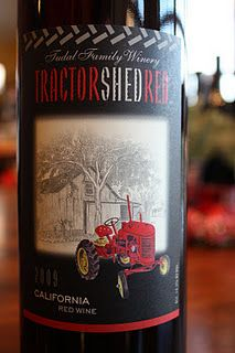 Tractor Shed Red 2009 - A Rich, Smooth and Savory Bulk Buy!     A blend of Sangiovese, Merlot, Zinfandel and Cabernet Franc. $7 at Costco. Buy this by the case!