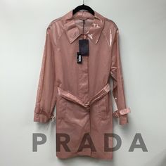 ⬇️PRICE DROP⬇️ Prada Blush Rain Coat Classy Prada rain coat in new with tag condition. 2097-249. Prada Jackets & Coats