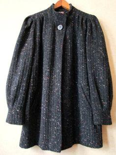Charcoal Grey Oversized Jacket swing coat blanket by MySoftParade