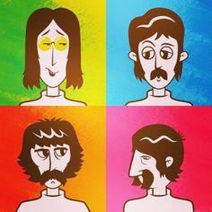 #illustration #illustradraw #illustrator #vector #colors #colorschemes #photoshop #thebeatles