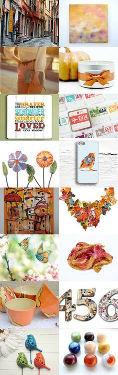 A touch of orange by Ellen on Etsy--Pinned with TreasuryPin.com