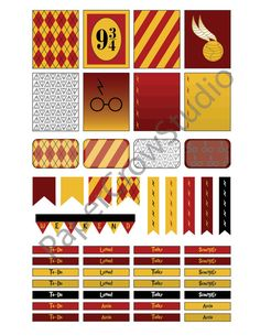 Harry Potter Planner Sticker Kit by MonarchDesignLA on Etsy