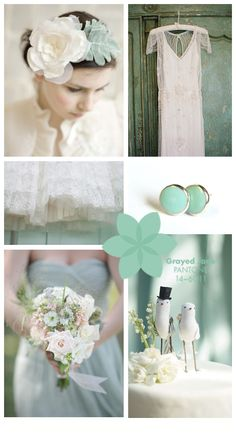 Pantone Wedding Inspiration ~ Greyed Jade