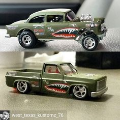 Reposted from - WIP on the killer matching chevy square! Custom Hot Wheels, Hot Wheels Cars, Lowrider Model Cars, Plastic Model Cars, Weird Cars, West Texas, Model Trains, Chevy Trucks, Toys For Boys